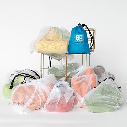 Onya Reusable Produce bags - 8 Pack Turquoise
