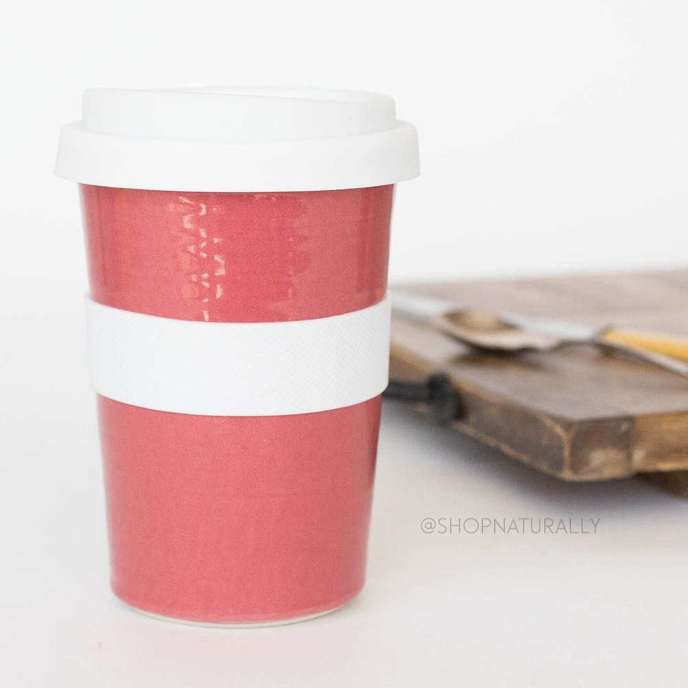 Southern Cross Pottery Stoneware Coffee Cup - 340ml Red