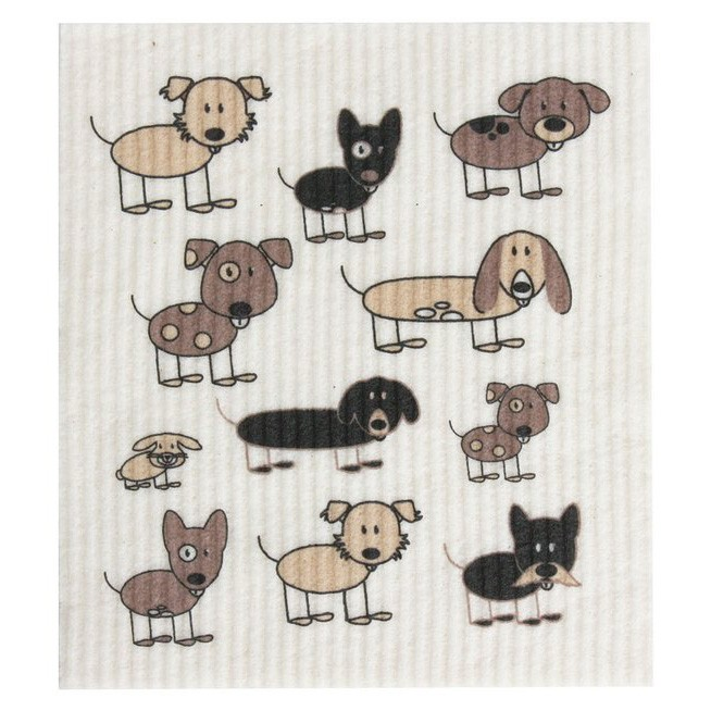 Retro Kitchen Swedish Dish Cloth - Dogs