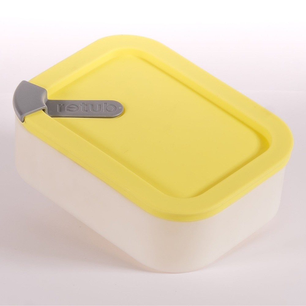 Retub Insulated Glass Reusable Takeaway Food Container - 640ml Bees Knees