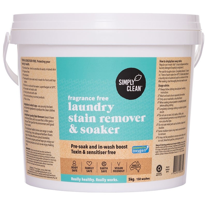 Simply Clean Laundry Stain Remover & Soaker 5kg - Fragrance Free