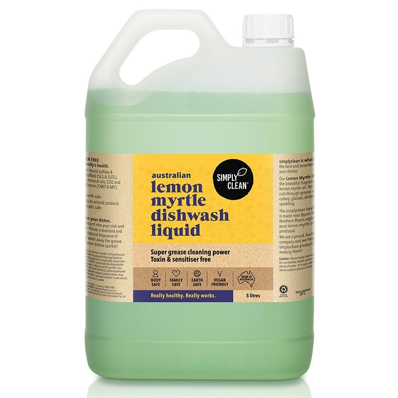 Simply Clean Dishwash Liquid 5L - Lemon Myrtle