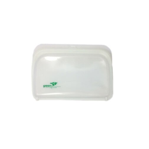 Green Essentials Reusable Silicone Food Pouch - Small Clear