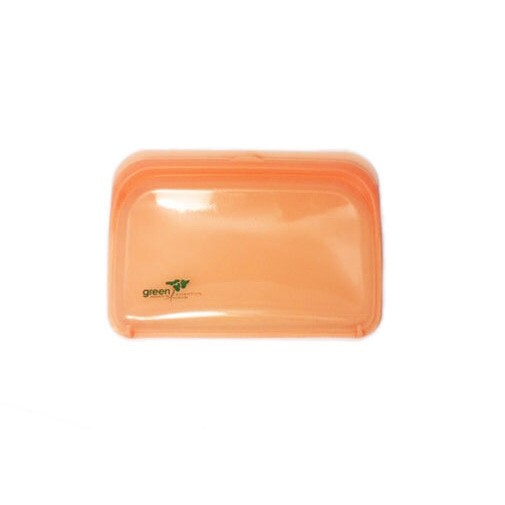 Green Essentials Reusable Silicone Food Pouch - Small Orange