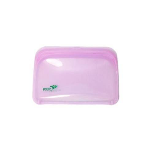 Green Essentials Reusable Silicone Food Pouch - Small Purple