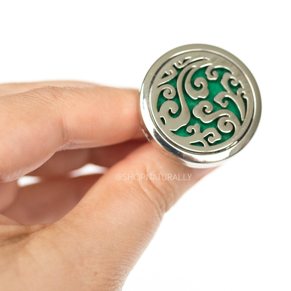 Shop Naturally Aromatherapy Car Diffuser Locket - Swirls
