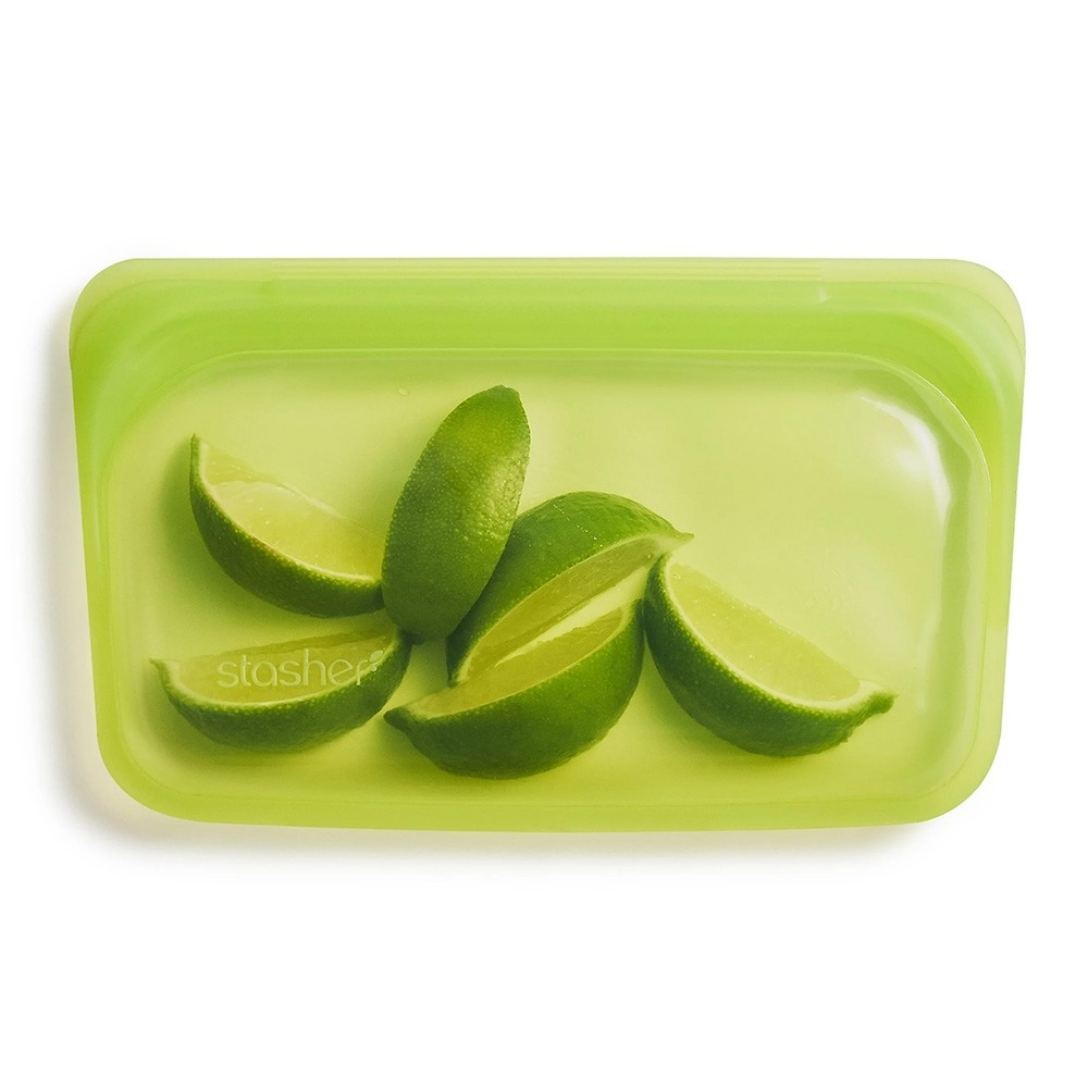 Stasher Reusable Silicone Leakproof Snack Pocket - Lime