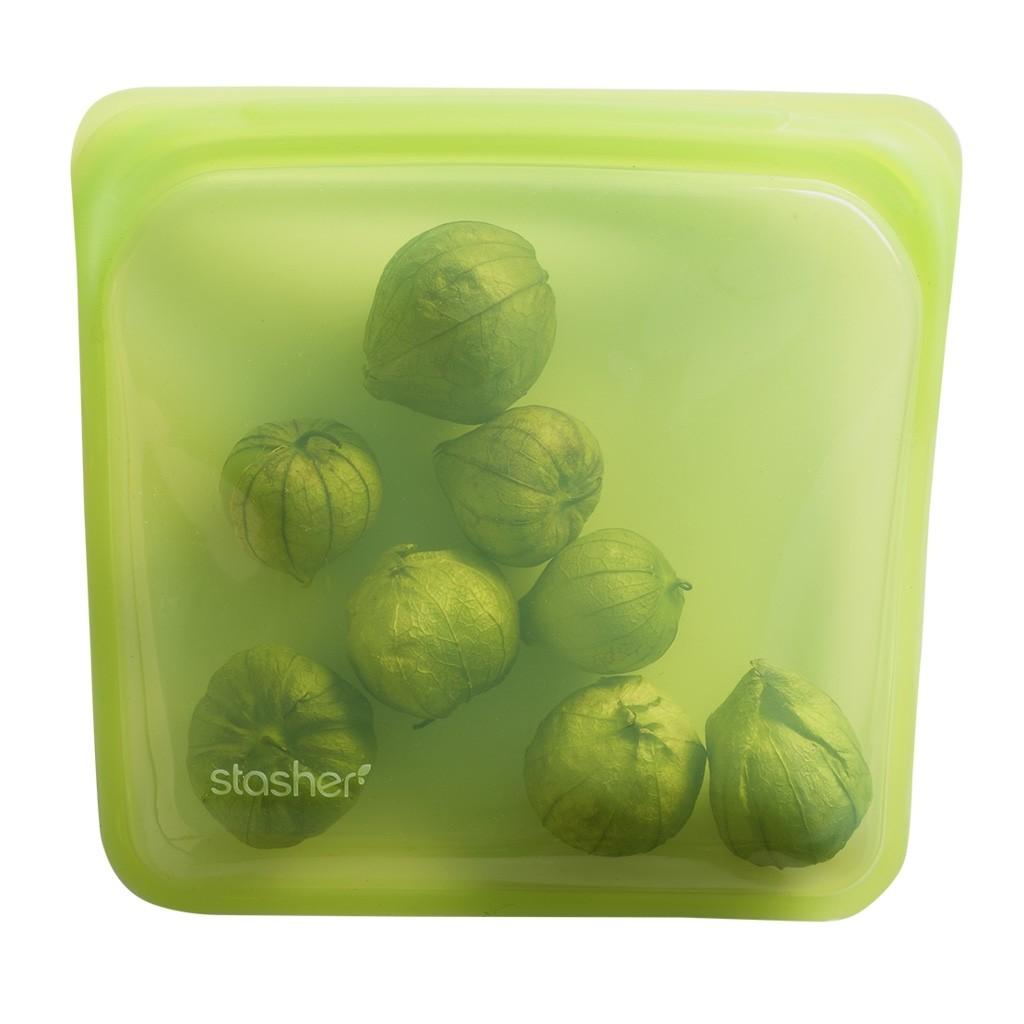 Stasher Reusable Silicone Leakproof Sandwich Pocket - Lime