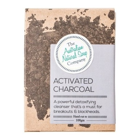 The Australian Natural Soap Co Solid Soap Bar - Activated Charcoal Unscented