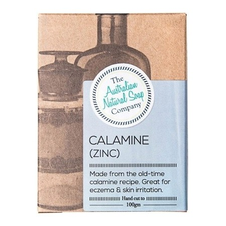 The Australian Natural Soap Co Solid Soap Bar - Calamine with Zinc Unscented