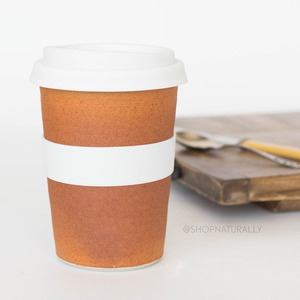 Southern Cross Pottery Stoneware Coffee Cup - 340ml Terracotta