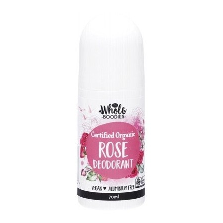 The Whole Boodies Roll-On Deodorant 70ml - Rose