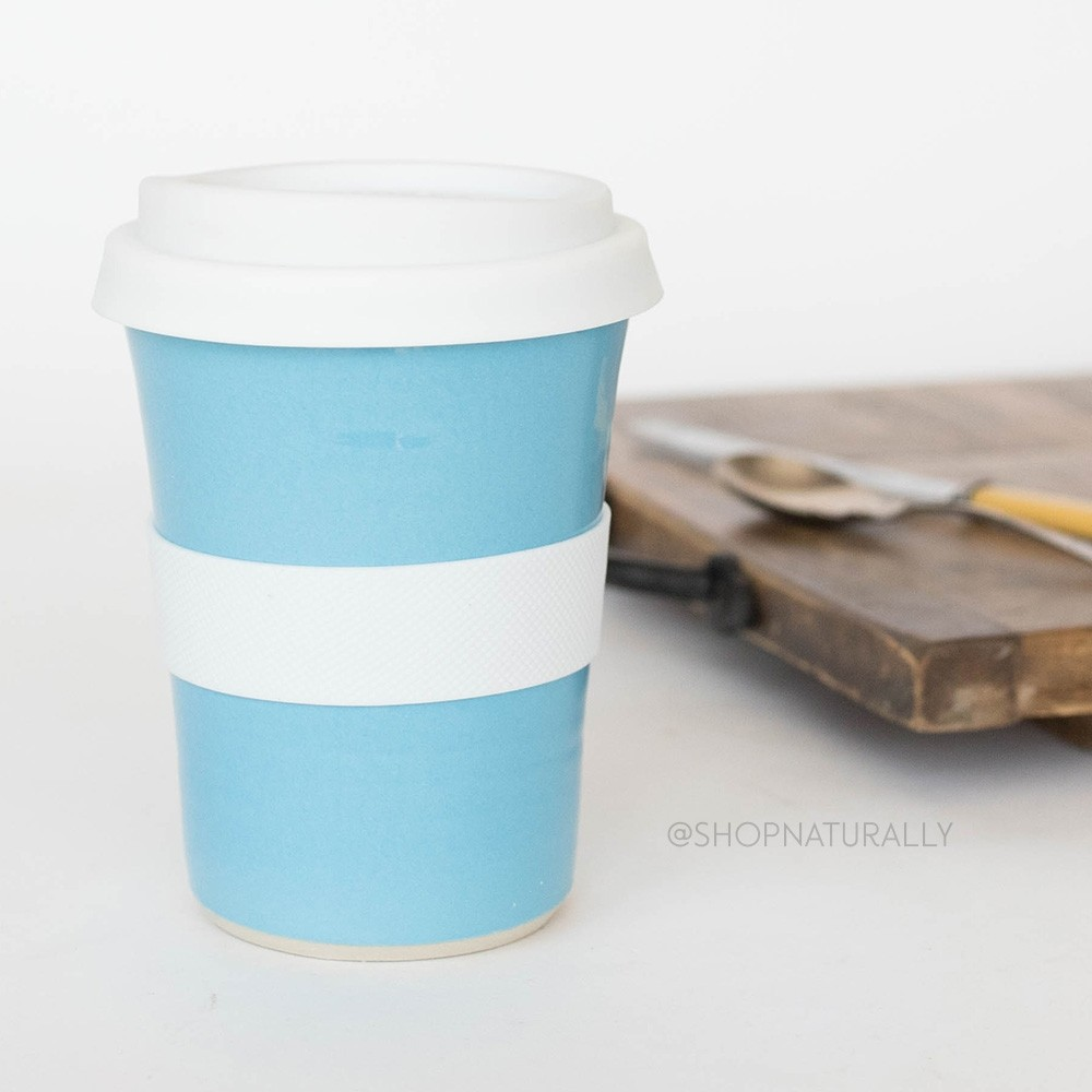 Southern Cross Pottery Stoneware Coffee Cup - 340ml Turquoise