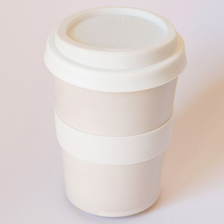Southern Cross Pottery Stoneware Coffee Cup - 340ml White
