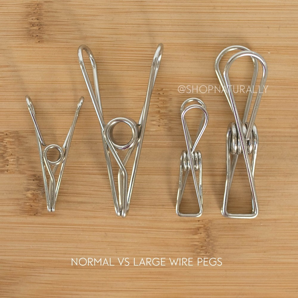 Wire Pegs Stainless Steel Clothes Pegs x 20 - Salty Conditions (304 SS)