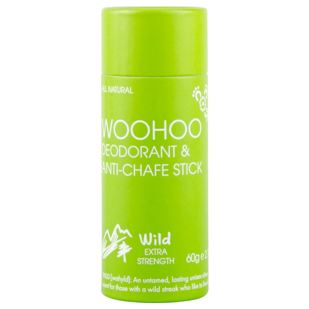 Woohoo Body! Natural Deodorant & Anti Chafe Stick - Wild 60g