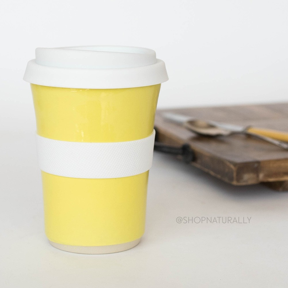 Southern Cross Pottery Stoneware Coffee Cup - 340ml Yellow