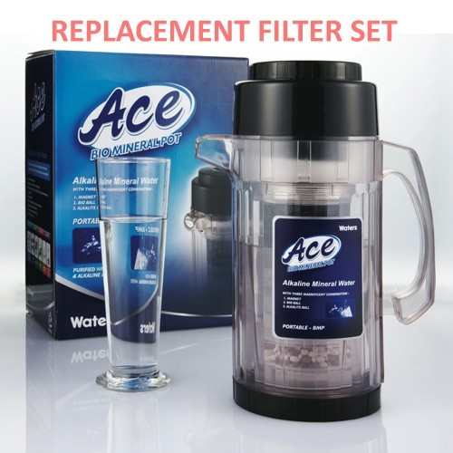 Waters Co Bio Mineral Pot Ace 1.5L - 2 year replacement filter set