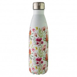 Avanti Stainless Steel Insulated Water Bottle / Flask - 500ml Australian Natives White