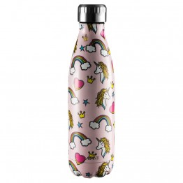 Avanti Stainless Steel Insulated Water Bottle / Flask - 500ml Unicorn