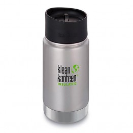 Klean Kanteen Wide Mouth Insulated Stainless Steel Travel Mug - 12oz (355ml) - Stainless Steel