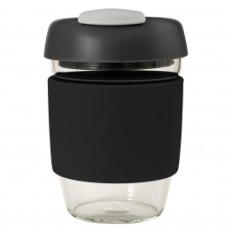 Avanti Glass Go Cup Reusable Coffee Cup - 355ml Black / Charcoal / Grey