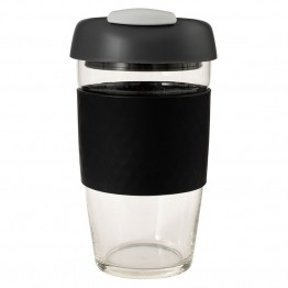 Avanti Glass Go Cup Reusable Coffee Cup - 473ml Black / Charcoal / Grey