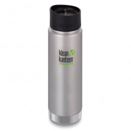 Klean Kanteen Wide Mouth Insulated Stainless Steel Travel Mug - 20oz (592ml) - Brushed Stainless