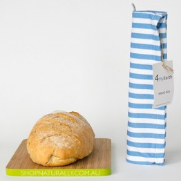 4MyEarth Cotton Bread Bag - Denim Stripe