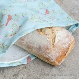 4MyEarth Cotton Bread Bag - Lovebirds