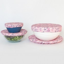 4MyEarth Reusable Food Cover Set (4) - Peonies