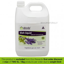 Abode Natural Dishwashing Liquid - 5L Lavender & Mint