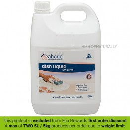 Abode Natural Dishwashing Liquid - 5L Fragrance Free