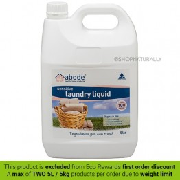 Abode Natural Laundry Liquid - 5L Sensitive Fragrance Free