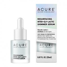 Acure Resurfacing Inter-Gly-Lactic Shimmer Serum 20ml