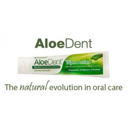 AloeDent Flouride Free Toothpaste - Triple Action 100ml