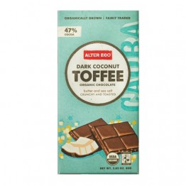 Alter Eco Dark Coconut Toffee Organic Chocolate 80g