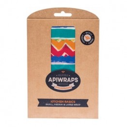 Apiwraps Beeswax Wrap - Kitchen Basics 3 Pack