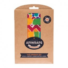 Apiwraps Beeswax Wrap - The Apiwrap Set 4 Pack