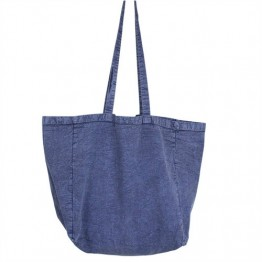 Apple Green Duck Stonewash Canvas Tote - Blue Denim
