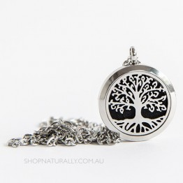 Aroma Jewels Aromatherapy Necklace Diffuser Locket - Tree Of Life