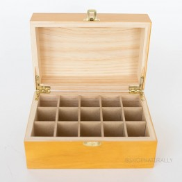 Aromamatic Essential Oils Boutique Timber Storage Box - 15 Slots