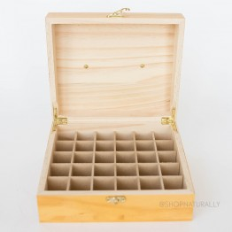 Aromamatic Essential Oils Executive Timber Storage Box - 30 Slots