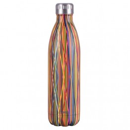 Avanti Stainless Steel Insulated Water Bottle / Flask - 750ml Streamers