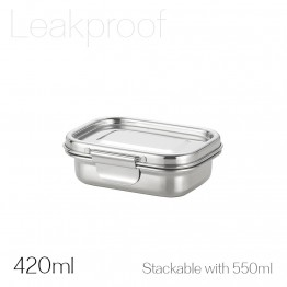 Avanti Dry Cell Stainless Steel Leakproof Food Container - 420ml