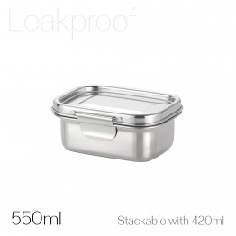 Avanti Dry Cell Stainless Steel Leakproof Food Container - 550ml