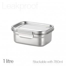 Avanti Dry Cell Stainless Steel Leakproof Food Container - 1 Litre