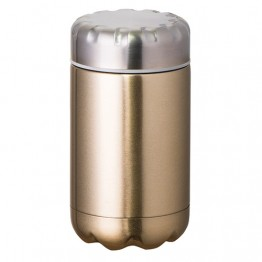 Avanti Stainless Steel Insulated Food Flask with Stainless Inner Lid - 500ml Champagne