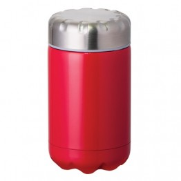 Avanti Stainless Steel Insulated Food Flask with Stainless Inner Lid - 500ml Red
