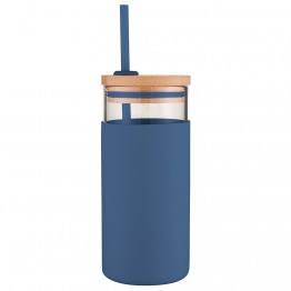 Avanti Glass Smoothie Cup 500ml - Navy